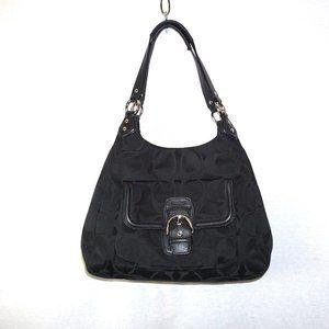 COACH Campbell Hobo Black Shoulder Bag F24742